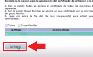 Imprimir El Certificado Nueva Eps