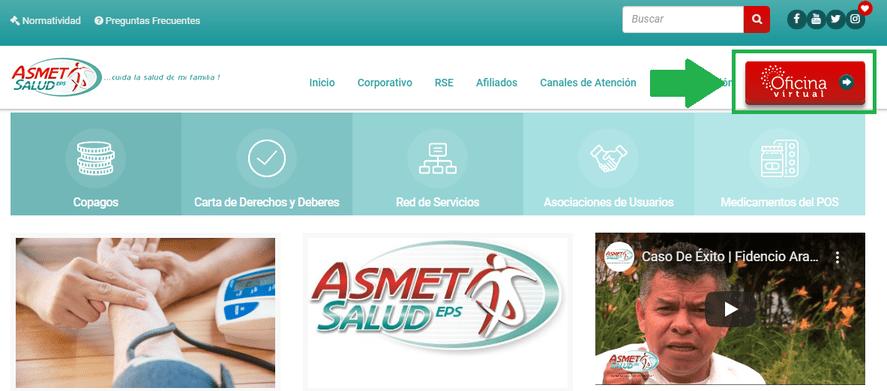 Afiliación Asmetsalud