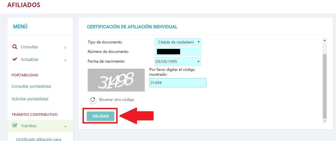 Descargar Certificado Afiliación Asmetsalud