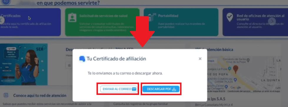 Descargar Certificado Afiliación Mutal Ser