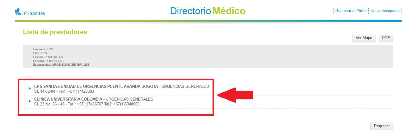 Directorio Médico Sanitas
