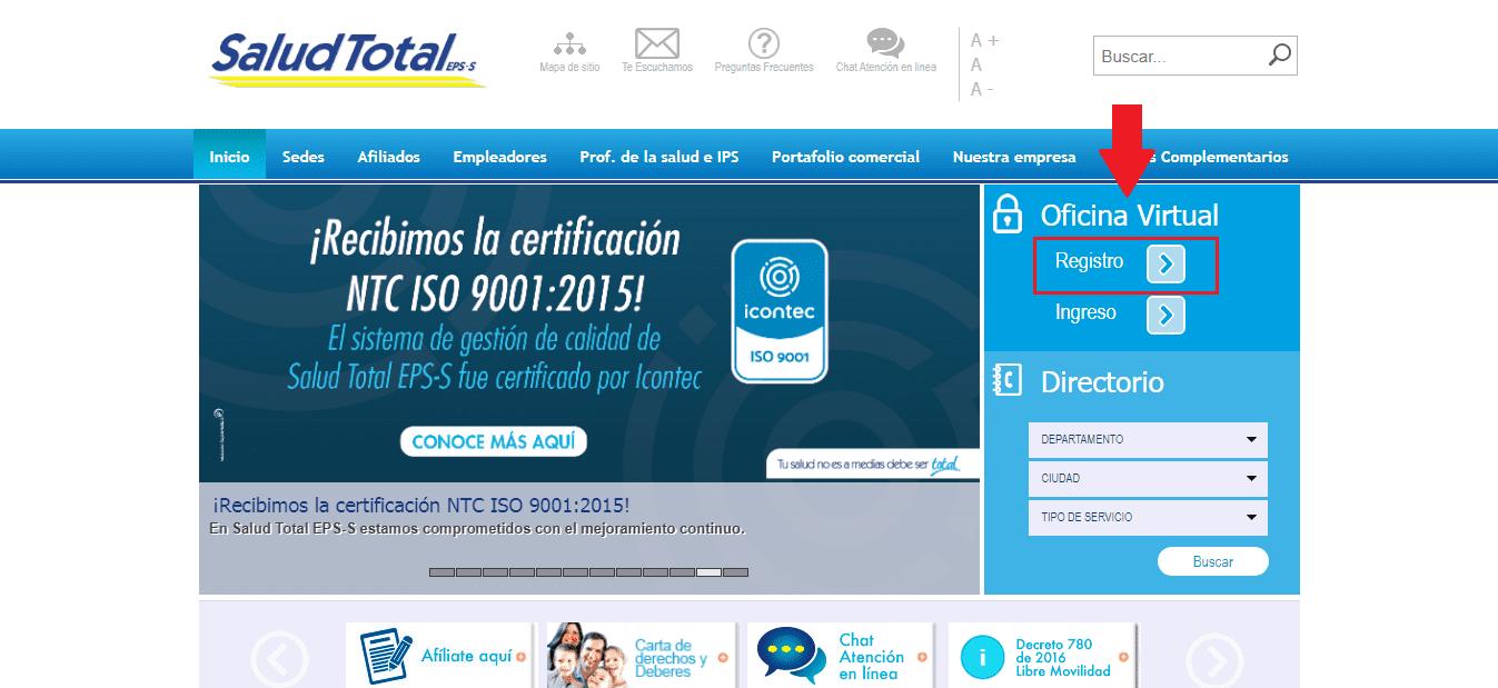 Oficina Virtual Saludtotal Eps