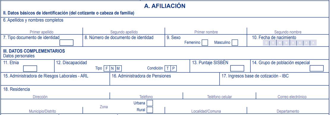 Afiliación Capital Salud
